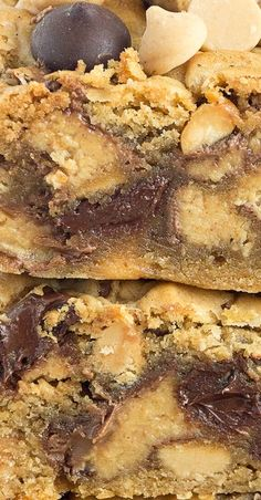 Chunky, Chewy Peanut Butter and Chocolate Bars