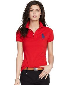 Polo Ralph Lauren Slim-Fit Big-Pony Polo Shirt Polo Shirt Outfit Women s 0ae2f136a5e