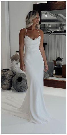 Dream Wedding Dresses, Bridal Dresses, Slip Wedding Dress, Backless Prom Dresses, Grace Loves Lace, Silk Gown, Trendy Wedding, Wedding White, Boho Wedding