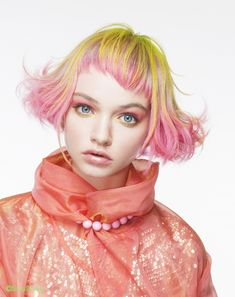 Color Ideas for Short Hair 2013 – yellow hair Yellow Hair, Pink Hair, Pink Yellow, Navy Blue, Creative Hairstyles, Cool Hairstyles, Hair And Makeup Artist, Hair Makeup, Hair Art