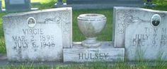 Tom M Hulsey and Virgie Hudson Hulsey tombstone in Union Hill Cemetery, Hackleburg, Marion County, Alabama