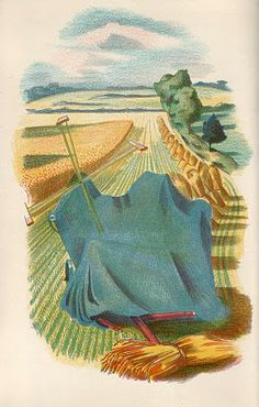 'Men and the Fields' by Adrian Bell, with lithographs by John Nash (1939)