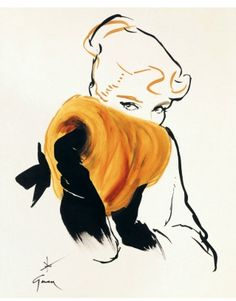 René Gruau was first introduced to the fashion industry by Christian Dior in 1947