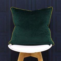 Chadwick Velvet Feel Scatter Cushion with Filling Hykkon Colour: Emerald/Moss Vintage Cushions, Cushions Online, Complimentary Colors, Velvet Cushions, Scatter Cushions, Cushion Pads, Signature Collection, Green Velvet, Geometric Designs