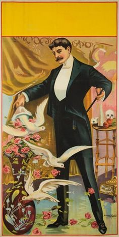Magician with Doves. ca. 1900