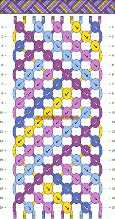 friendship bracelet pattern - overlapping ribbon
