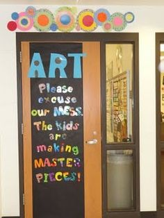 What is the purpose of art education? A safe place for a healthy mess...so true!!:-)