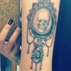 Skull Cameo Tattoo, love the frame
