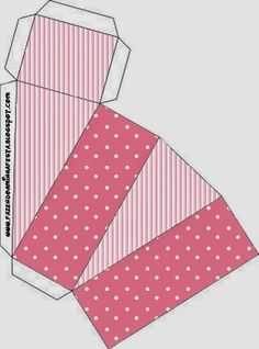 Pink and White Stripes and Polka Dots Free Printables Boxes.