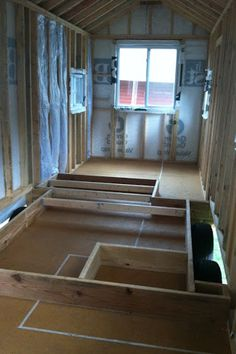 Good reminder to plan a tiny house build from the very first step to the last nail. Floorboard systems coincide with the layout of the house. Building A Tiny House, Tiny House Cabin, Tiny House Living, Tiny House Plans, Tiny House On Wheels, Tiny House Design, Living Room, Micro House, Tiny House Movement