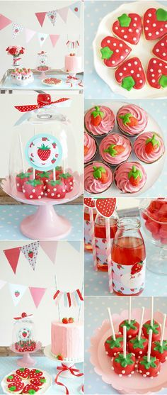 Party ● Strawberry Theme, perfect for a spring fling or picnic party.