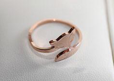 Rose Gold Fox Ring so adorable