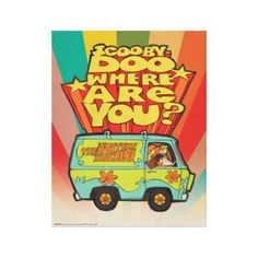 "Scooby-Doo   ""Where Are You?"" Retro Cartoon Van Canvas Print - decor gifts diy home & living cyo giftidea"