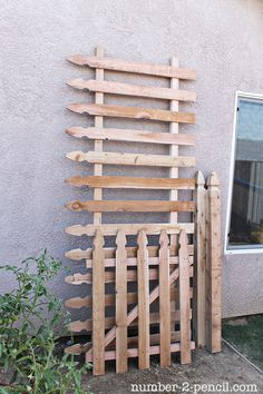 Wood Picket Fence Gate