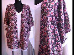 Tuto couture : kimono d'été avec franges, patron gratuit super facile - YouTube