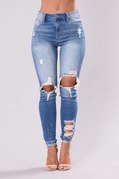 Till Love Runs Out Jeans - Medium Wash