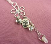 The Gypsy Road Love Flowers Quartz Charm Necklace