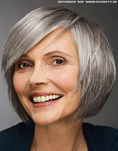I love when older gals let their pretty hair get gray.
