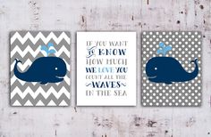 50% OFF.Whale Nursery art print  nautical decor, Whale Nursery Printable in Navy Blue and Gray,Set of 3, if you want to know how by OnlyPrintableArts on Etsy https://www.etsy.com/listing/195657847/50-offwhale-nursery-art-print-nautical