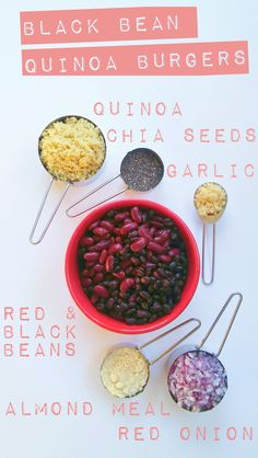 This is all you need to create an epic vegan Black Bean Quinoa Burger! Click for the recipe!