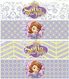 Etiquetas para botellas de princess sofia