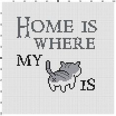 Neko Atsume Cross Stitch - Home is where my is