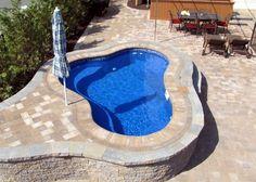 Fiberglass Swimming Pools in mobile format Fiberglass pools inground pools fiberglass pool Small Fiberglass Inground Pools, Small Inground Pool, Small Backyard Pools, Pools Inground, Small Swimming Pools, Swimming Pool Designs, Pool Ideas, Backyard Ideas, Garden Ideas