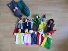 Neuwertige 12 Puppen Handpuppen für Puppentheater von Goki in Grüna (Sachsen)