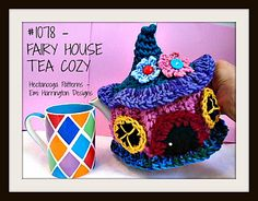 FAIRY HOUSE TEA COZY, make it any size by following the instructions! Make it to fit any size pot!