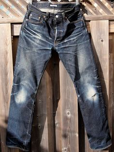 Eternal 811's at 11 months with only one hand wash. #rawdenim #eternaljeans ⓀⒾⓃⒼⓈⓉⓊⒹⒾⓄⓌⓄⓇⓀⓈ