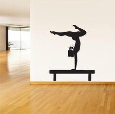 Wall Vinyl Sticker Decals Mural Art Yoga Girl Sports Gymnastics Gymnast 210 | eBay