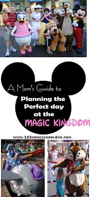 Magic Kingdom tips for family vacation at Disney - great links for other various Disney tips and day plans