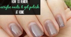 Grown out acrylic nails/gel polish is not pretty – we all know it - but I'm not about to pay someone to dunk my fingertips in acetone and t...