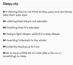 A - Alivian; B - Dean, except Dean is a light sleeper, while Alivian is a very deep sleeper Creative Writing Prompts, Book Writing Tips, Writing Help, Writing Ideas, Otp Prompts, Dialogue Prompts, Story Prompts, Fanfiction, Writing Promts
