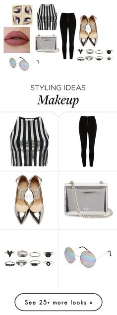 """""""Untitled #2419"""" by bianca-salazar97 on Polyvore featuring Bundy & Webster, River Island, Full Tilt, Jimmy Choo, Rochas, women's clothing, women, female, woman and misses"""