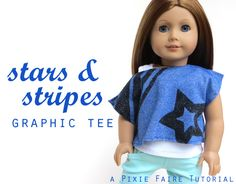 tutorial to paint a Stars & Stripes Graphic tee by Pixie Faire