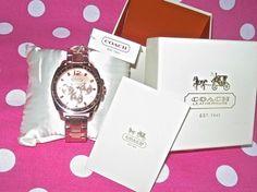 New Coach 14501371 Women Boyfriend Rose Gold Tone Stainless Steel Dial Watch   eBay