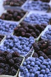 black berries & blue berries, @gettyimages