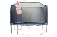 Upper Bounce Trampoline Enclosure Set to Fits 14 ft. Round Frames, for 3 or 6 W-Shaped Legs -Set Includes: Net, Poles & Hardware - The Home Depot Trampoline Ladder, Trampoline Parts, Trampoline Springs, Trampoline Safety, Backyard Trampoline, Backyard Play, Trampoline Accessories, Motto