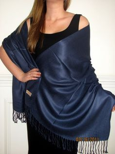 Dazzling Navy Pashmina Silk Stole - this shawl wrap stole for women in navy brilliance is $19.99 best buy! http://www.yourselegantly.com/pashmina-scarves-shawls-wraps-solid-pashmina-silk-shawls-wraps-dazzling-navy-pashmina-silk-stole-p-1610.html