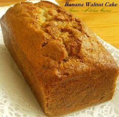 Kitchen Corner: Banana Walnut Cake