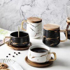 Ceramic Coffee Cups, Coffee Mugs, Coffee Cup Set, Latte Mugs, White Coffee, Kintsugi, Mugs Cafe, Marble Mugs, Ceramics