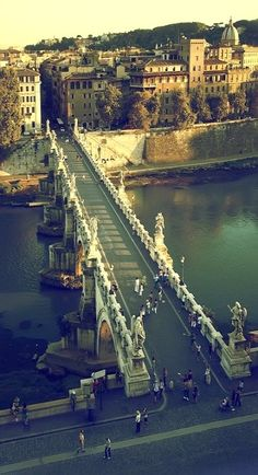 Ponte Santangelo, Rome. I want to go see this place one day.
