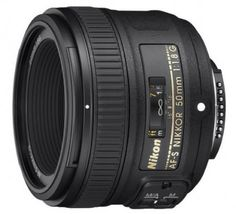 The Nikon 50mm f/1.8 is a great prime lens at a low price. This is an FX (full-frame) lens but is fully compatible on the D3300 with a focal length equivalent to 75mm. It's one of the sharpest in Nikon's lineup, performs well in low light, has fast and accurate autofocus, and good bokeh. We also like the easy focus override, which allows you to switch from auto to manual simply by moving the focus ring.