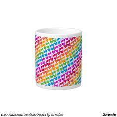 New Awesome Rainbow Notes Large Coffee Mug