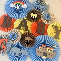 This set of handmade paper fans will be the perfect addition to your next party, event, or photo shoot! Hang them above your dessert table, fill a blank wall, or the perfect backdrop for your little o