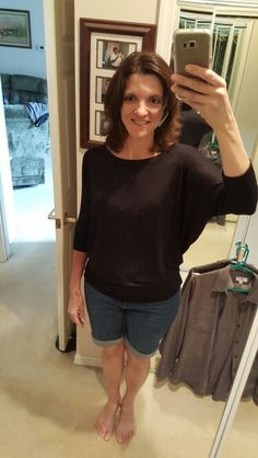 The closer fit around the hips of this top looks much better than the other ones did.