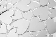 50 or 100 Mini Heart Craft Mirrors