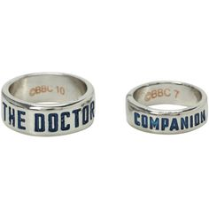 Doctor Who Companion Ring Set | Hot Topic ($23) ❤ liked on Polyvore featuring jewelry, rings, doctor who, set rings, engraved jewelry and engraved rings
