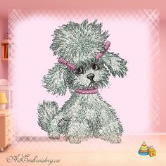 """Poodle Girl - Machine Embroidery Designs Set for a Babies and Children of a series """"Old Toy"""""""